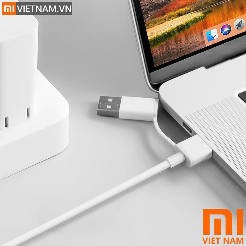 MIVIETNAM-CAP-SAC-XIAOMI-MOT-DAU-TYPE-C-MOT-DAU-TYPE-C-KET-HOP-USB-TYPE-A