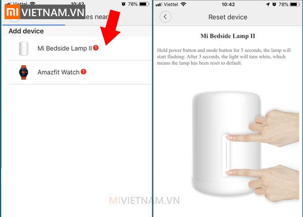 Hướng dẫn kết nối đèn ngủ Xiaomi Mijia