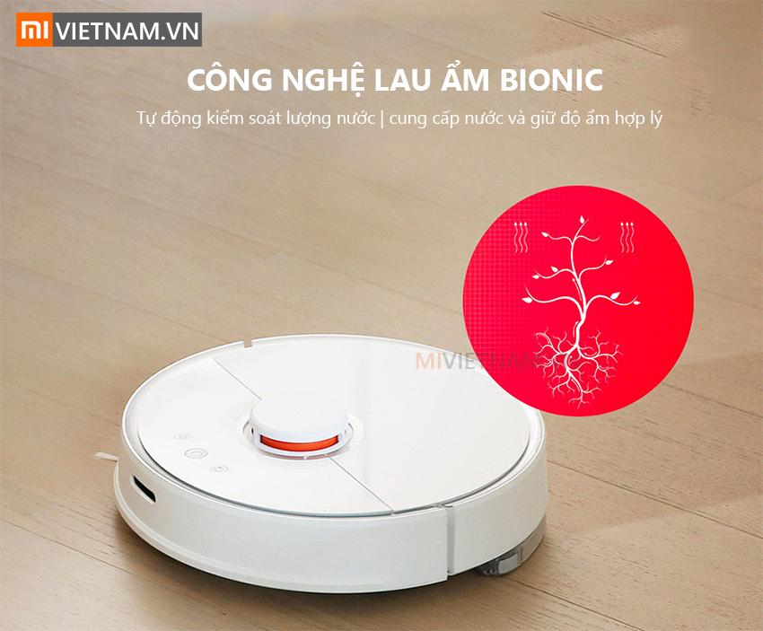 Công nghệ lau ẩm bionic | Robot Lau Nhà Roborock S5
