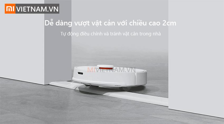 Dễ dàng vượt vật cản 2cm | Robot Lau Nhà Roborock S5