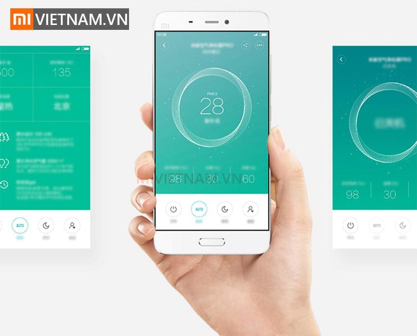 Kết nối app Mihome | Máy Lọc Không Khí Xiaomi Mi Air Purifier Pro