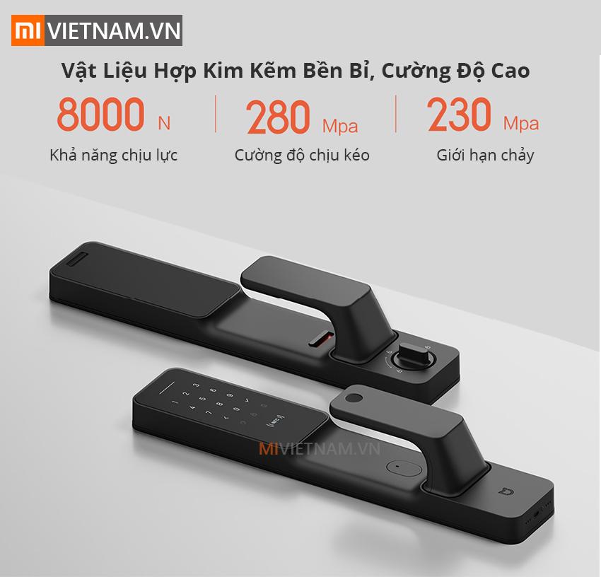 Vật liệu hợp kinm độ bền cao | Khóa Cửa Thông Minh Cao Cấp Mi Smart Door Lock