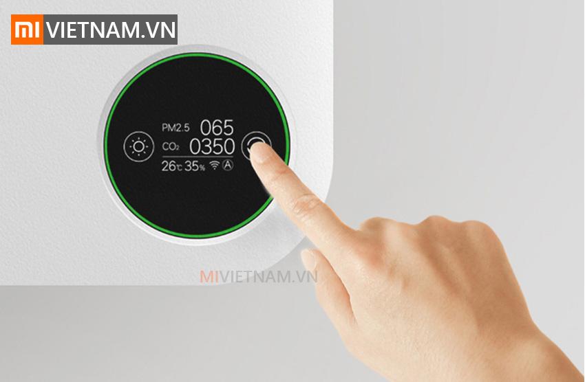 Thiết kế sang trọng màn hình sắc nét   Máy Lấy Gió Ngoài SmartMi Purifier