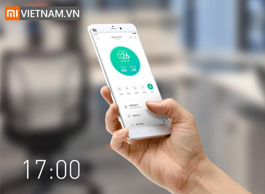 App kết nối thông minh   Máy Lấy Gió Ngoài SmartMi Purifier