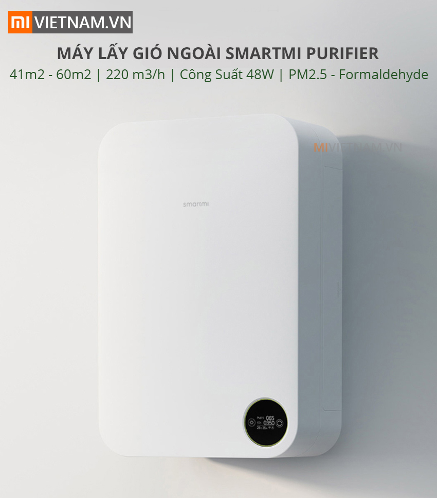 Máy Lấy Gió Ngoài SmartMi Purifier