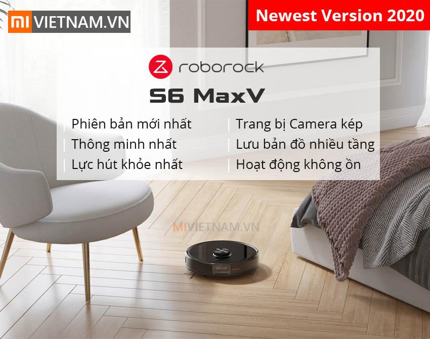 Robot Hút Bụi Lau Nhà Roborock S6 MaxV | Phiên bản mới nhất