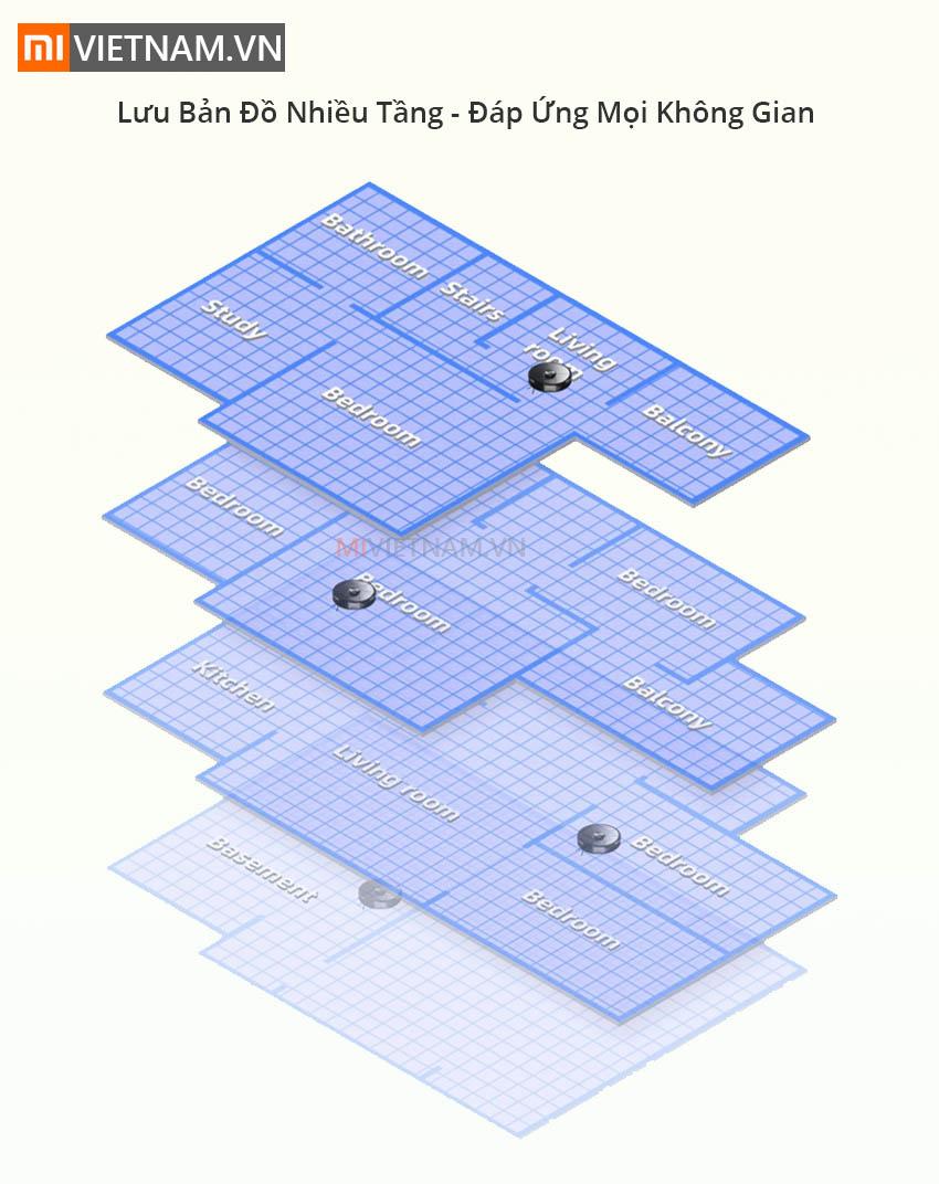 Lưu bản đồ nhiều tầng Roborock S6 MaxV