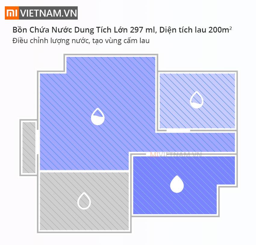 Bồn chưa nước dung tích lớn 297ml | Roborock S6 MaxV