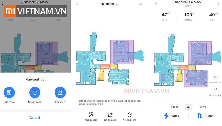 Robot Hút Bụi Lau Nhà Roborock S6 MaxV | Bản đồ thời gian thực