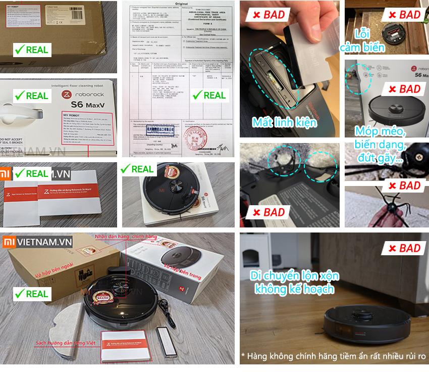Hàng chính hãng Robot Hút Bụi Lau Nhà Roborock S6 MaxV