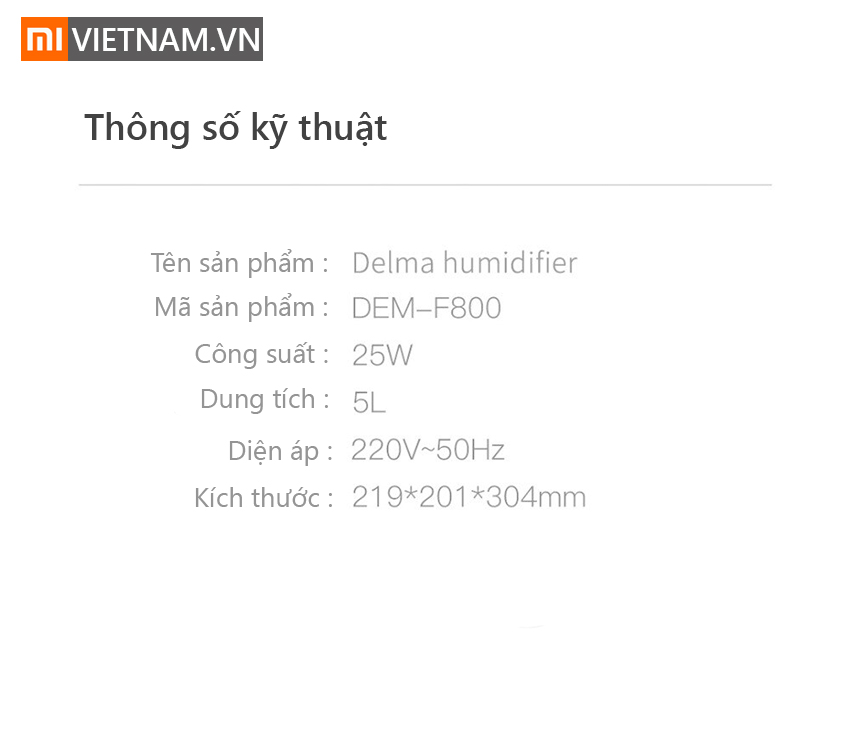 Máy Tạo Độ Ẩm Xông Tinh Dầu Deerma F800