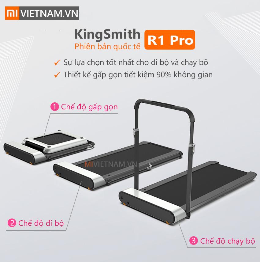 Máy Chạy Bộ Thông Minh KingSmith R1 Pro | Phiên bản quốc tế