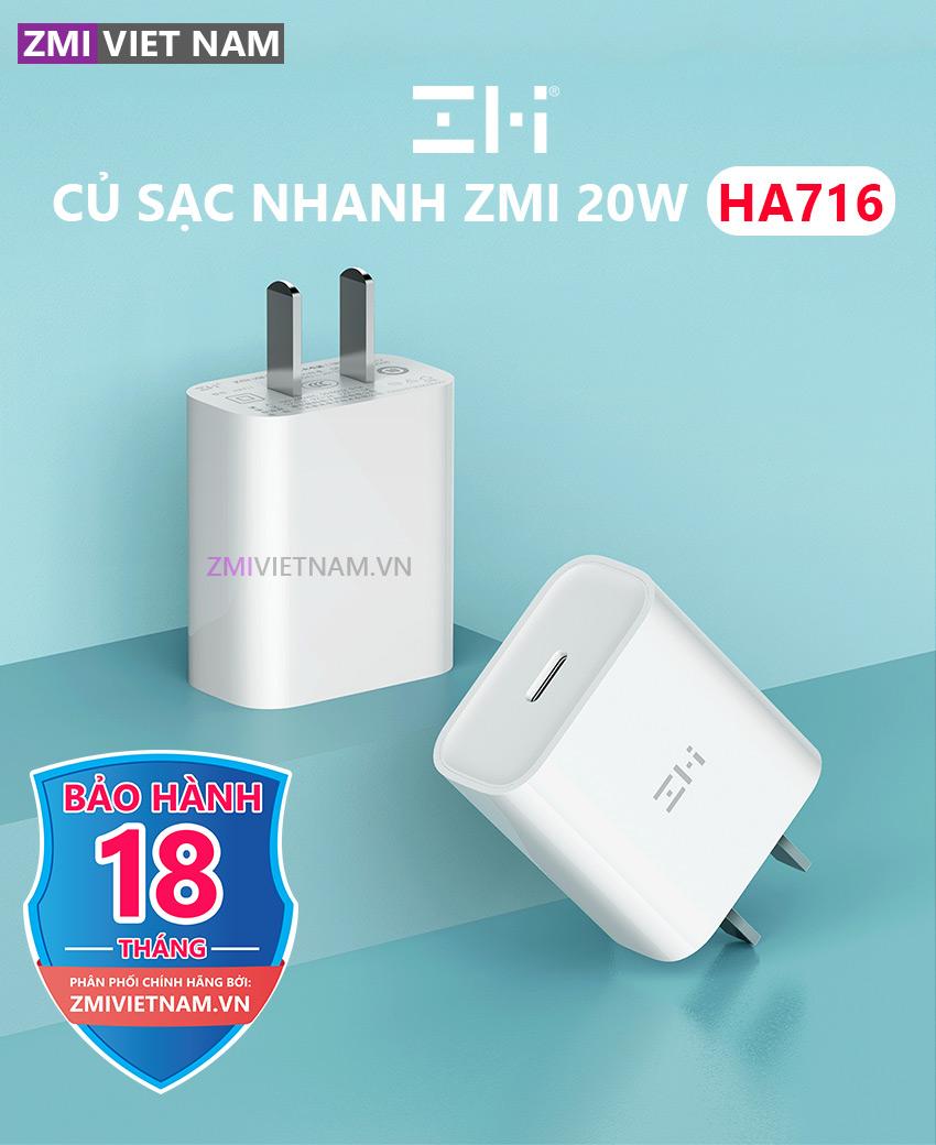 Củ Sạc Nhanh ZMI HA716