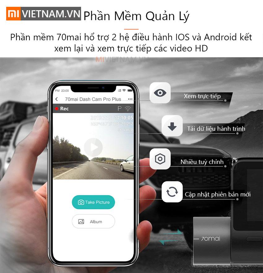 Camera Hành Trình 70mai Dash Cam Pro Plus A500
