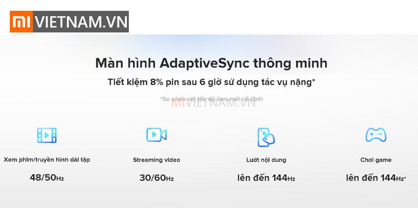 Màn hình AdaptiveSync thông minh | Xiaomi Mi 10T Pro 5G