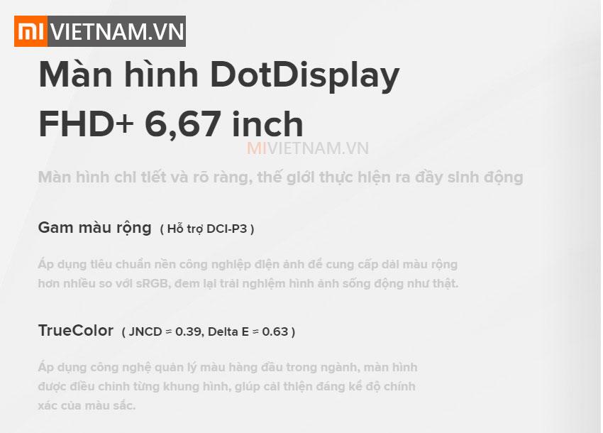 Màn hình Dotdisplay | Xiaomi Mi 10T Pro 5G