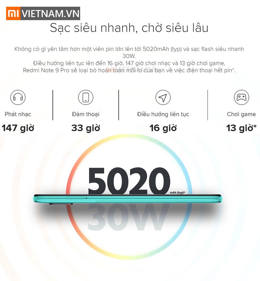 Sạc siêu nhanh dùng siêu lâu | Xiaomi Redmi Note 9 Pro