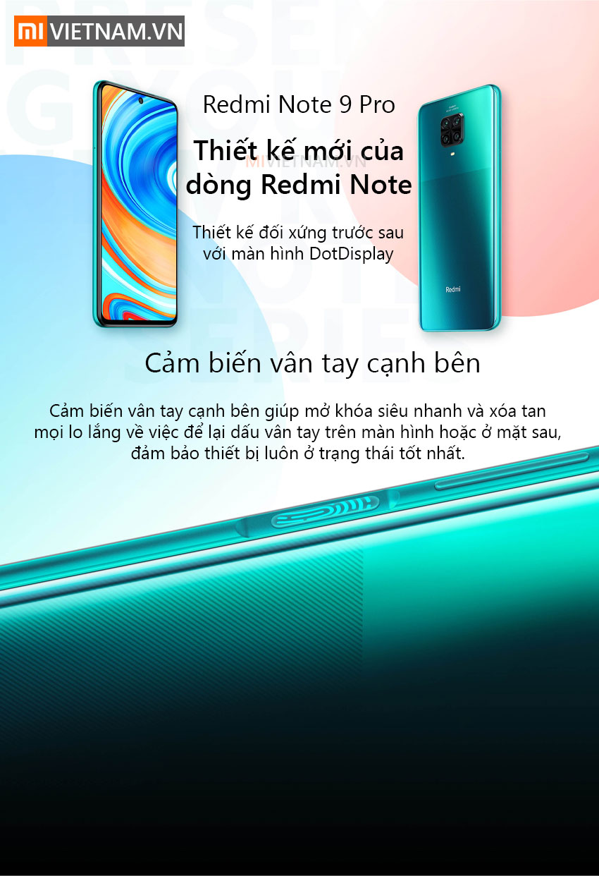 Điện thoại Xiaomi Redmi Note 9 Pro