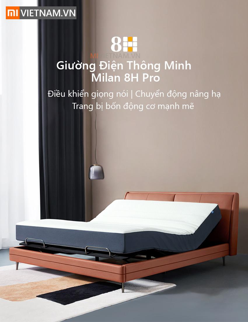 Giường Điện Thông Minh Milan 8H Pro