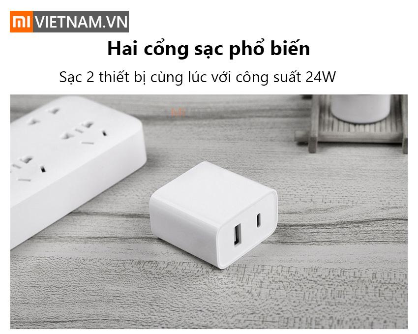 Củ Sạc Nhanh Xiaomi Type-C Chuẩn PD 30W (1A1C)