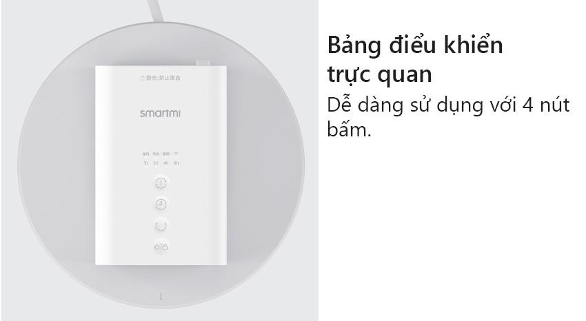 Bảng điều khiển trực quan | Máy quạt sưởi thông minh Smartmi Smart Fan Heater