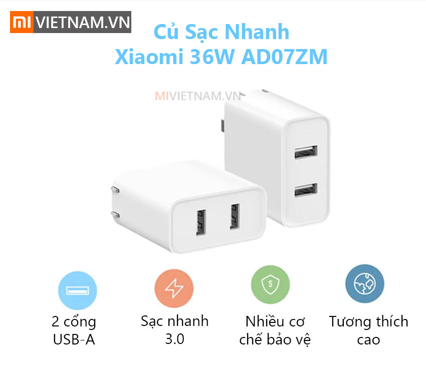 Củ Sạc Nhanh Xiaomi 36W AD07ZM