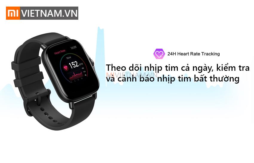 Theo dõi nhịp tim cả ngày | Đồng Hồ Thông Minh Amazfit GTS 2