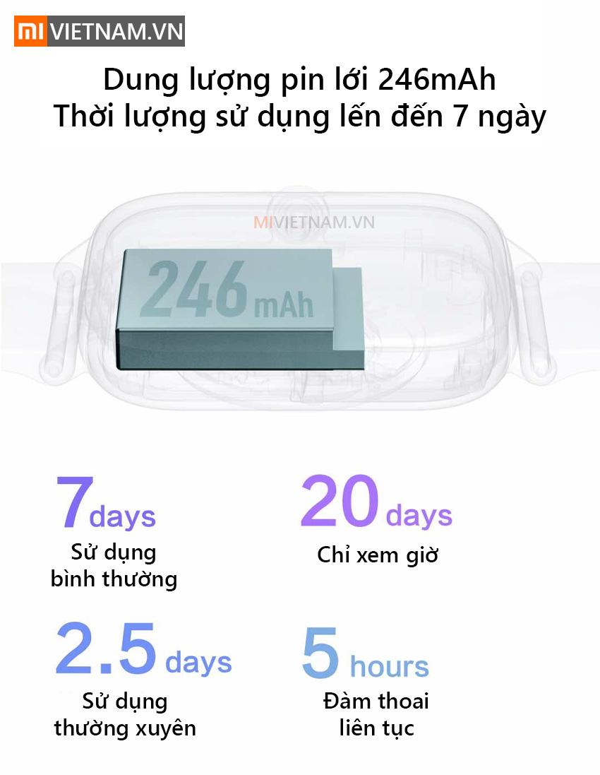 Dung lượng pin 246mAh | Đồng Hồ Thông Minh Amazfit GTS 2