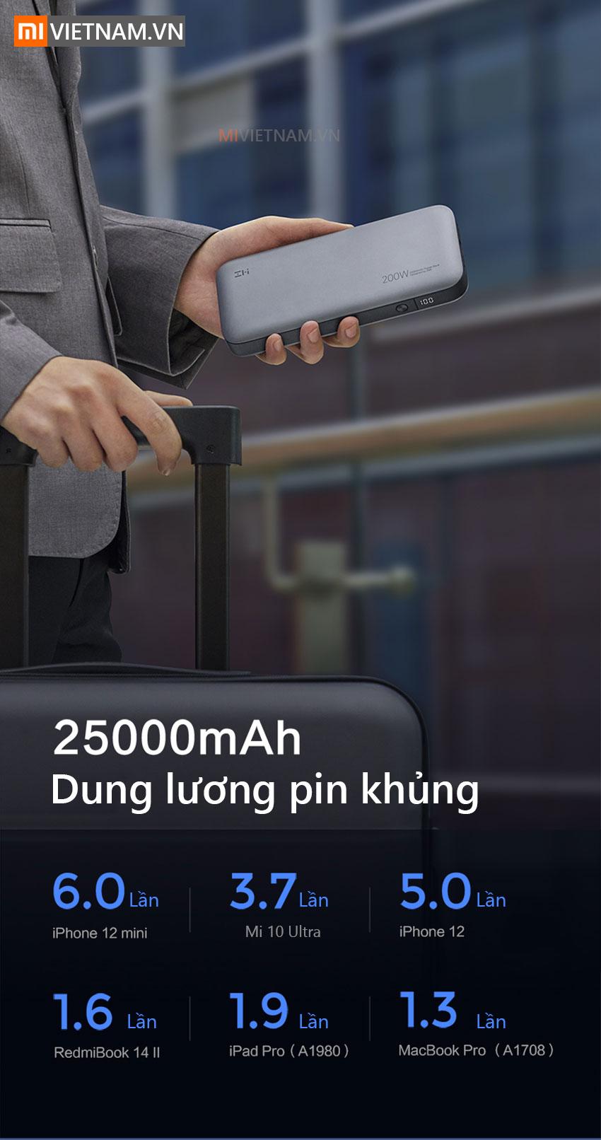 ZMI QB826 - dung lượng 25000 mah