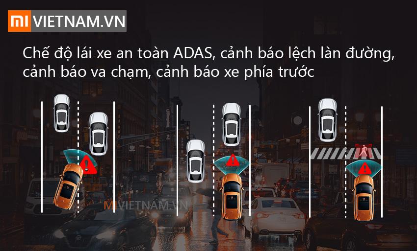 Canh bao lan duong che do ADAS